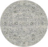 Dynamic Rugs Ancient Garden 57126 Silver/Grey Area Rug Round Shot