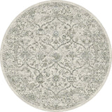 Dynamic Rugs Ancient Garden 57136 Silver/Grey Area Rug Round Shot
