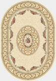 Dynamic Rugs Ancient Garden 57226 Ivory Area Rug Oval Shot