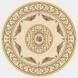 Dynamic Rugs Ancient Garden 57226 Ivory Area Rug Round Shot