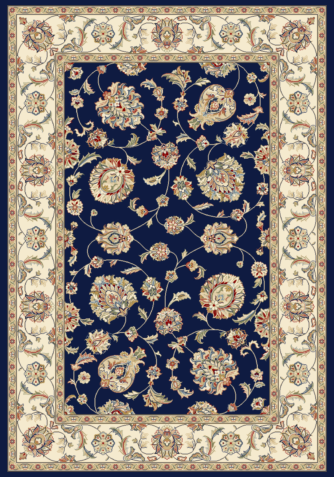 Dynamic Rugs Ancient Garden 57365 Blue/Ivory Area Rug main image
