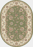 Dynamic Rugs Ancient Garden 57365 Green/Ivory Area Rug Oval Shot