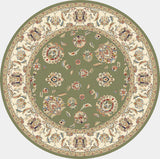 Dynamic Rugs Ancient Garden 57365 Green/Ivory Area Rug Round Shot