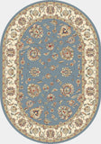 Dynamic Rugs Ancient Garden 57365 Light Blue/Ivory Area Rug Oval Shot