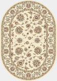 Dynamic Rugs Ancient Garden 57365 Ivory Area Rug Oval Shot