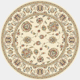 Dynamic Rugs Ancient Garden 57365 Ivory Area Rug Round Shot