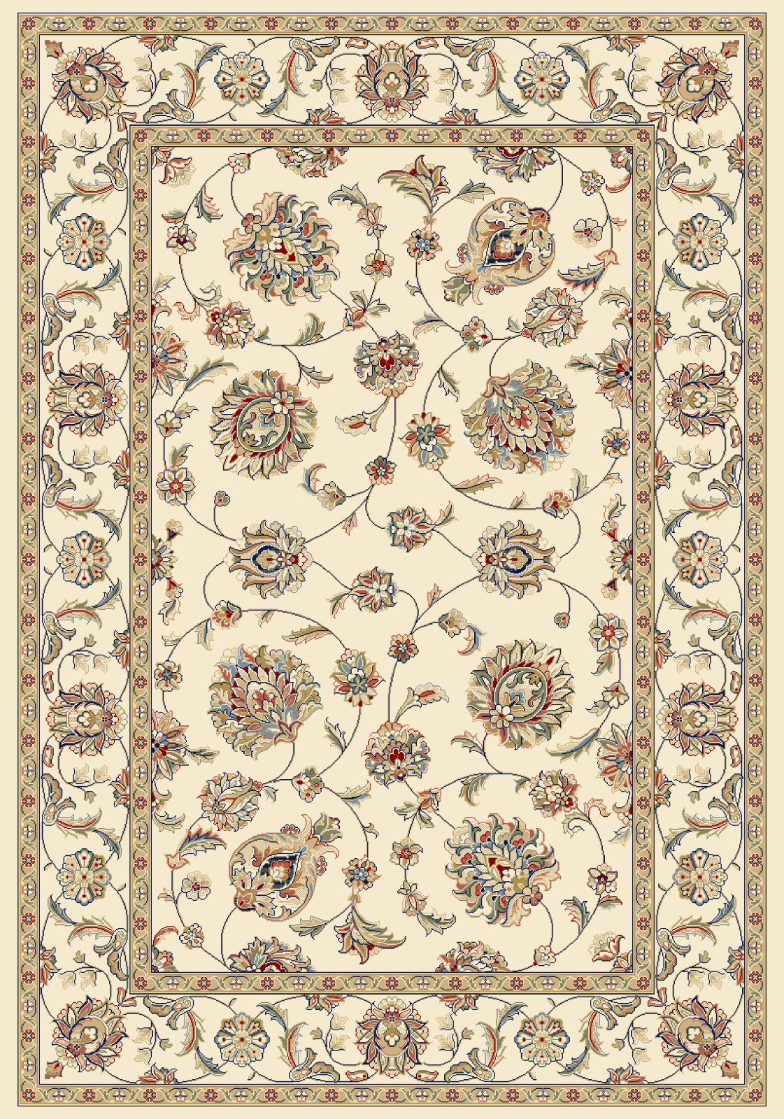 Dynamic Rugs Ancient Garden 57365 Ivory Area Rug main image
