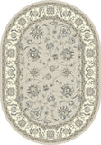 Dynamic Rugs Ancient Garden 57365 Soft Grey/Cream Area Rug Oval Shot