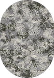 Dynamic Rugs Ancient Garden 57558 Grey Area Rug Oval Shot