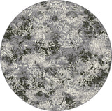 Dynamic Rugs Ancient Garden 57558 Grey Area Rug Round Shot