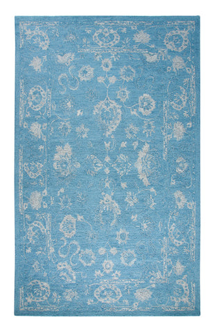 Dynamic Rugs Avalon 88800 Turquoise/Silver Area Rug main image