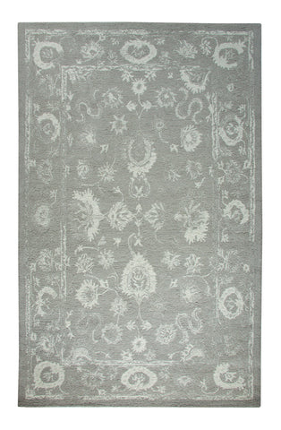 Dynamic Rugs Avalon 88800 Silver/Ivory Area Rug main image