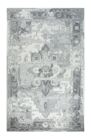 Dynamic Rugs Avalon 88801 Silver/Ivory Area Rug main image