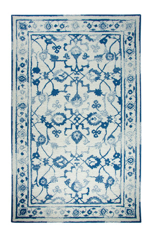 Dynamic Rugs Avalon 88802 Ivory/Dark Blue Area Rug main image