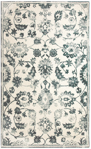 Dynamic Rugs Avalon 88803 Ivory/Teal Area Rug main image