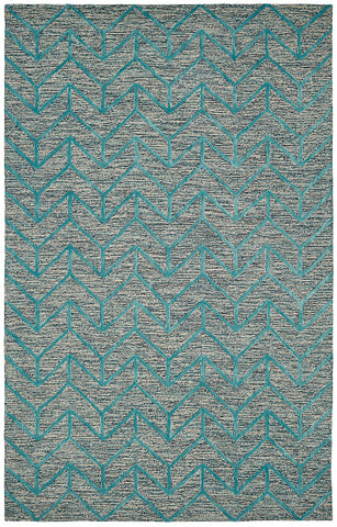Dynamic Rugs Broadway 99446 Aqua Area Rug main image