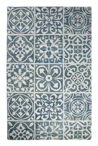 Dynamic Rugs Casual 92334 Blue Area Rug main image
