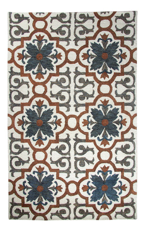 Dynamic Rugs Casual 92336 Rust/Blue Area Rug main image