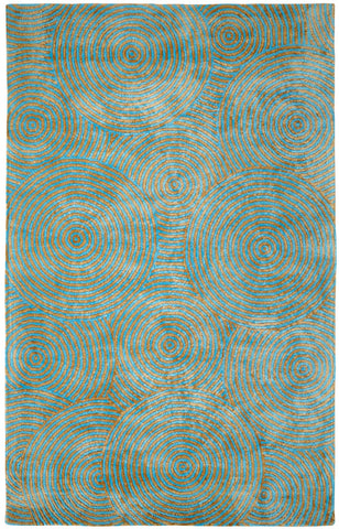 Dynamic Rugs Celeste 99225 Aqua/Gold Area Rug main image
