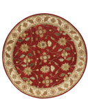 Dynamic Rugs Charisma 1403 Red/Ivory Area Rug Round Shot