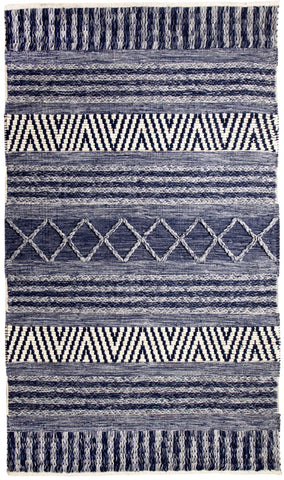 Dynamic Rugs Heirloom 91003 Blue/Ivory Area Rug main image