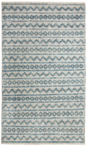 Dynamic Rugs Heirloom 91004 Teal/Ivory Area Rug main image