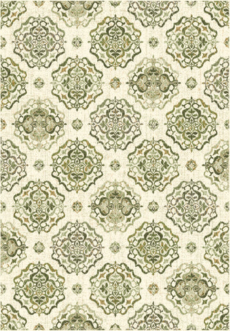 Dynamic Rugs Heritage 89474 Ivory/Green Area Rug main image