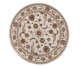 Dynamic Rugs Jewel 70113 Beige Area Rug Round Shot