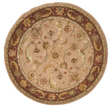 Dynamic Rugs Jewel 70113 Sand Area Rug Round Shot