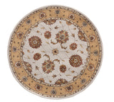 Dynamic Rugs Jewel 70230 Ivory Area Rug Round Shot