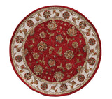 Dynamic Rugs Jewel 70231 Red Area Rug Round Shot