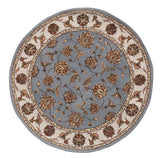 Dynamic Rugs Jewel 70231 Blue Area Rug Round Shot