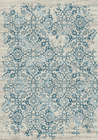 Dynamic Rugs Kingston 76114 Cream/Silver/Blue Area Rug main image