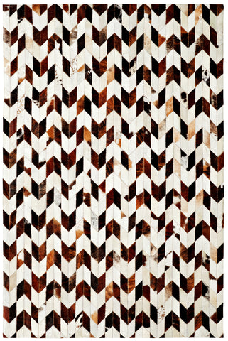 Dynamic Rugs Leatherwork 8106 Ivory/Brown Area Rug main image