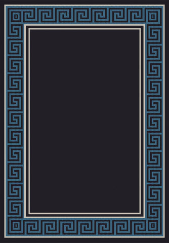 Dynamic Rugs Piazza 0720 Black/Blue Area Rug main image