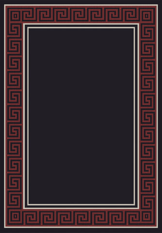 Dynamic Rugs Piazza 0720 Black/Red Area Rug main image