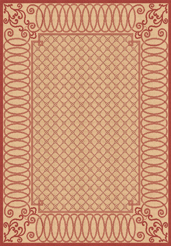 Dynamic Rugs Piazza 2587 Beige/Red Area Rug main image
