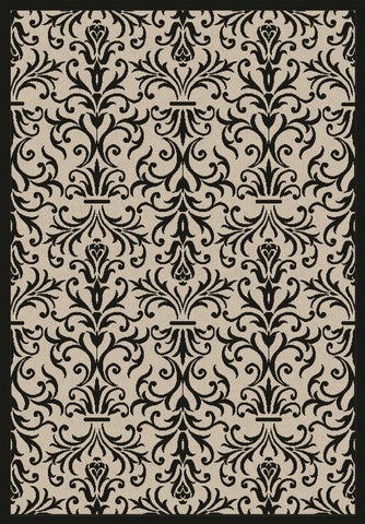 Dynamic Rugs Piazza 2742 Sand/Black Area Rug main image