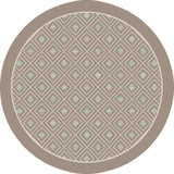 Dynamic Rugs Piazza 6141 Natural/Multi Area Rug Round Shot