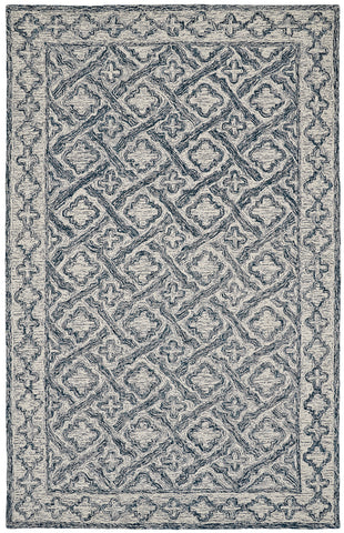 Dynamic Rugs Polar 99661 Ivory/Navy Area Rug main image