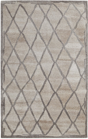 Dynamic Rugs Posh 7801 Ivory/Grey Area Rug main image