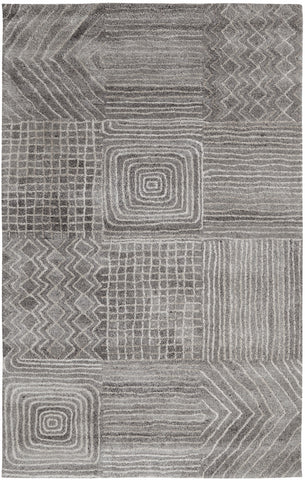 Dynamic Rugs Posh 7804 Dark Grey Area Rug main image