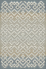 dynamic rugs royal treasure soft bluemocha area rug - Dynamic Rugs