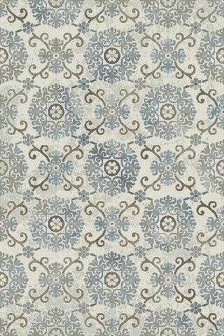 Dynamic Rugs Royal Treasure 90270 Soft Blue/Mocha Area Rug main image