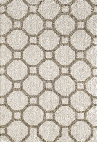 Dynamic Rugs Silky Shag 5903 White Area Rug main image