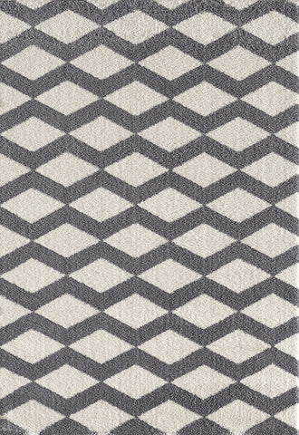Dynamic Rugs Silky Shag 5904 White Area Rug main image