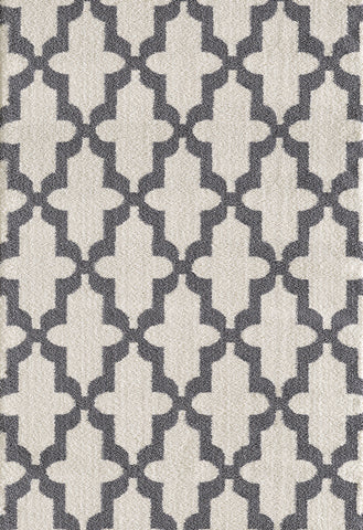 Dynamic Rugs Silky Shag 5906 White Area Rug main image