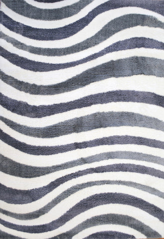 Dynamic Rugs Silky Shag 5921 White/Grey Area Rug main image