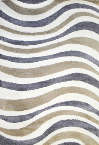 Dynamic Rugs Silky Shag 5921 White/Grey/Beige Area Rug main image