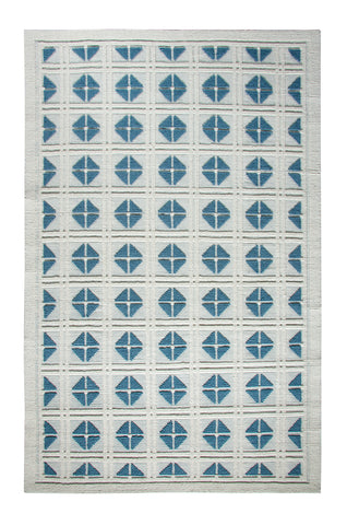 Dynamic Rugs Studio 97704 Ivory/Blue Area Rug main image